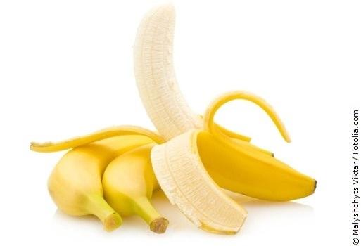 Banane mit weißem Hintergrund
